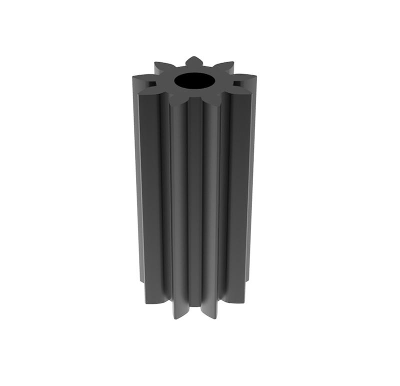 Piñón de plástico Módulo 1.000, Dientes 9Z, Forma recto
