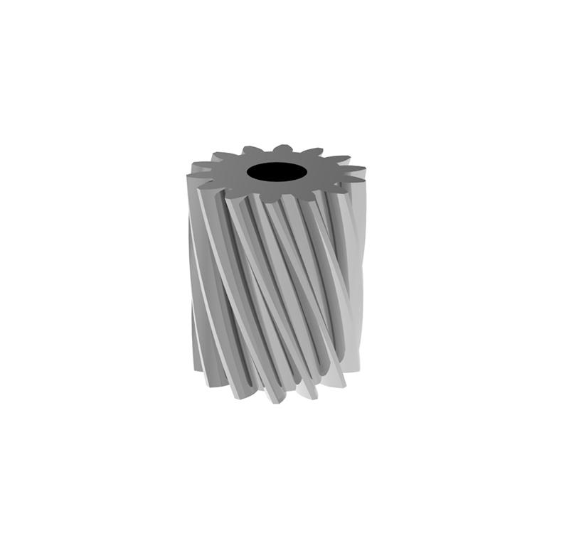 Piñón de metal Módulo 0,400, Dientes 14Z, Forma helicoidal