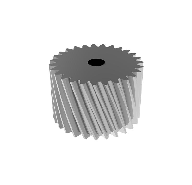 Engranaje de metal  Módulo 0.400, Dientes 20Z, Forma helicoidal
