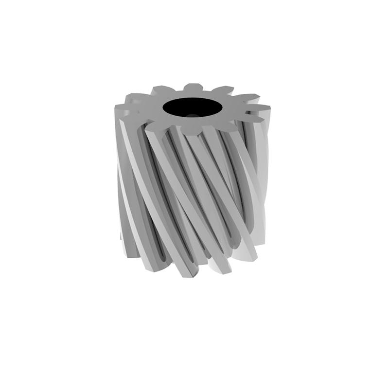 Piñón de metal Módulo 0,400, Dientes 12Z, Forma helicoidal