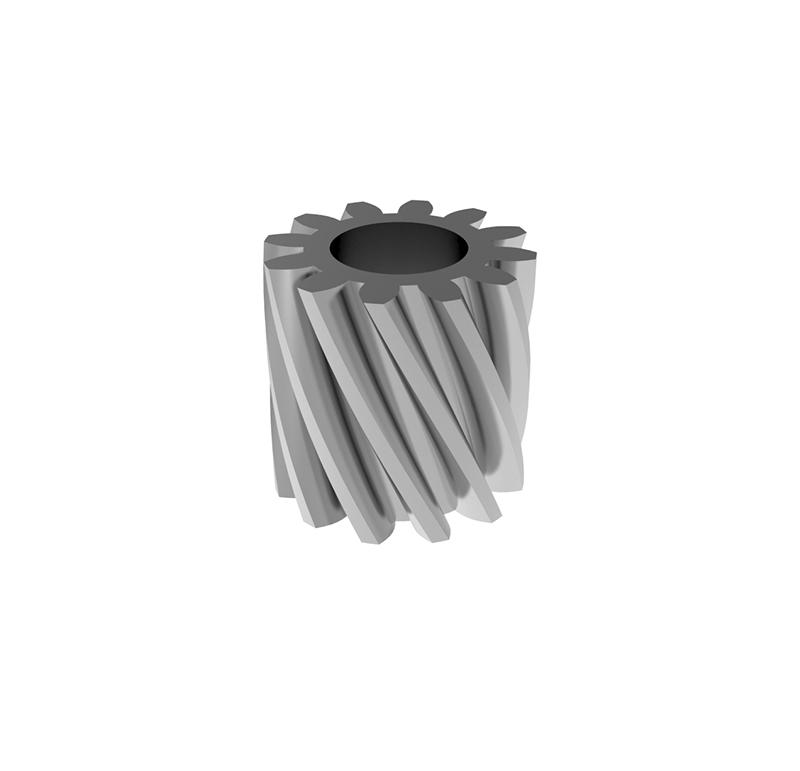 Piñón de metal Módulo 0.400, Dientes 12Z, Forma helicoidal