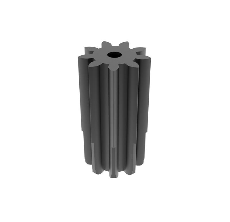 Engranaje de metal  Módulo 0.700, Dientes 9Z, Forma recto