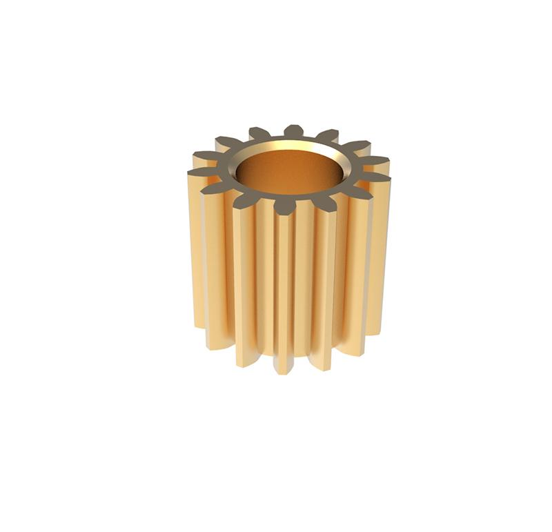 Piñón de metal Módulo 0.350, Dientes 14Z, Forma recto