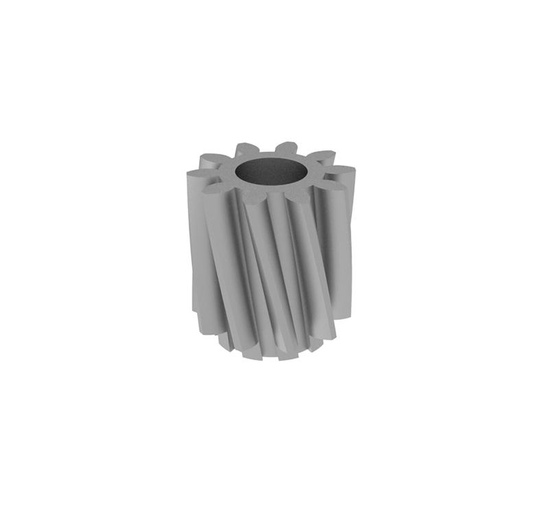 Engranaje de metal  Módulo 0.60, Dientes 10Z, Forma recto