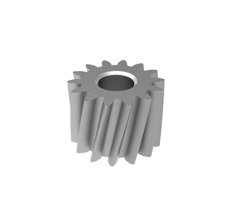 Engranaje de metal  Módulo 0.500, Dientes 14Z, Forma helicoidal