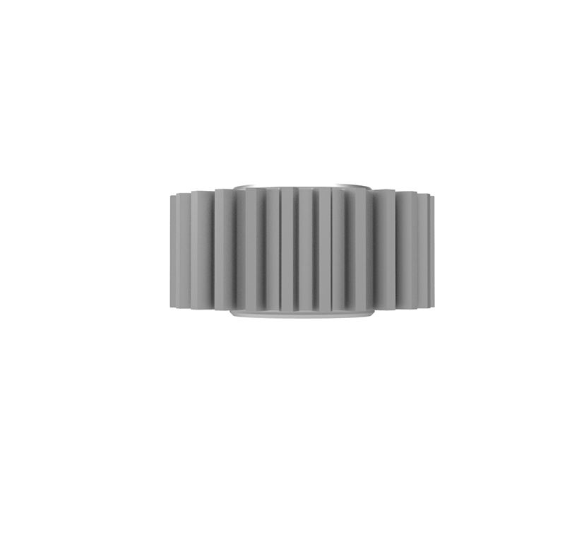 Piñón de plástico Módulo 0.550, Dientes 25Z, Forma recto