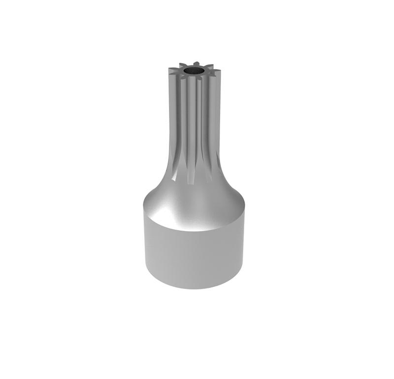 Piñón de metal Módulo 0.700, Dientes 9Z, Forma recto