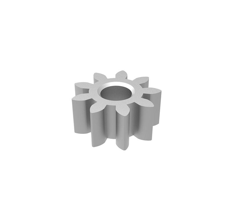 Piñón de plástico Módulo 0.800, Dientes 10Z, Forma recto