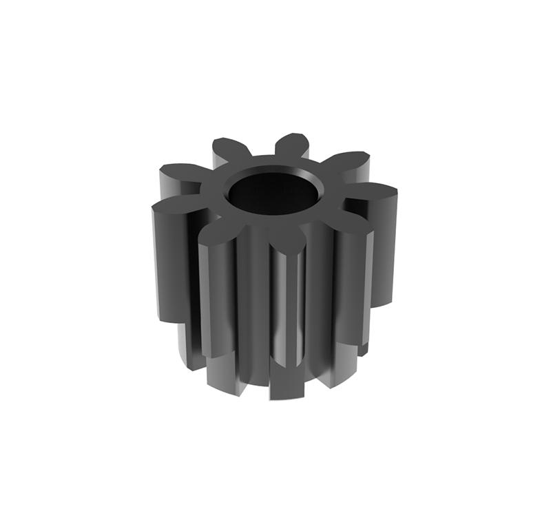 Piñón de metal  Módulo 1, Dientes 9Z, Forma recto