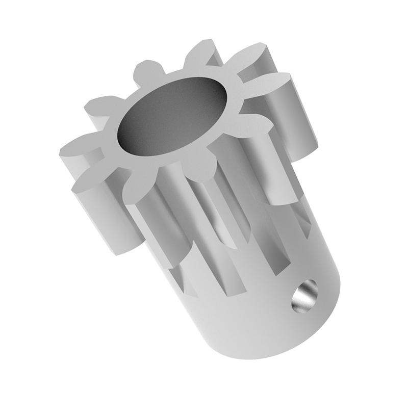 Piñón de metal Módulo 1,750, Dientes 10Z, Forma recto