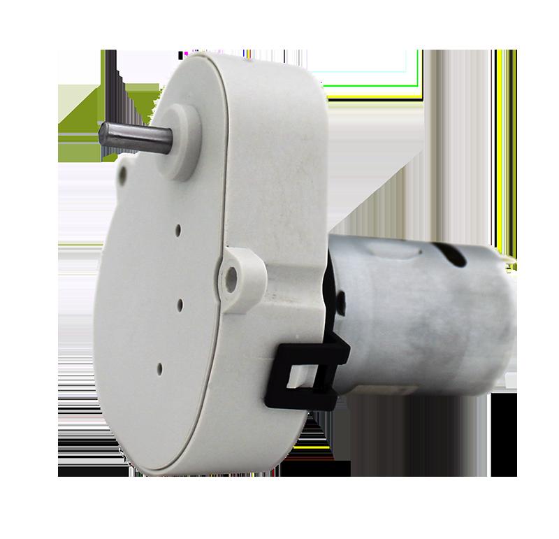 Reductor engranaje recto. Eje de salida de acero. Eje de salida: Ø8 Rodamiento a la salida: casquillo sinterizado y casquillo de plástico. Máxima carga radial a 5 mm de la brida: 10 N. Máxima carga axial admisible: 20 N. Material engranajes y eje de salida: Pom y acero. Rodadura de engranajes sobre ejes de acero templados y rectificados Caja y tapa: Poliamida + 30% G.F. Par de utilización hasta 0,5 N•m. Número de etapas: 5.  PLAZO DE ENTREGA MÁXIMO: 3 semanas.Se confirmará a la recepción del pedido.