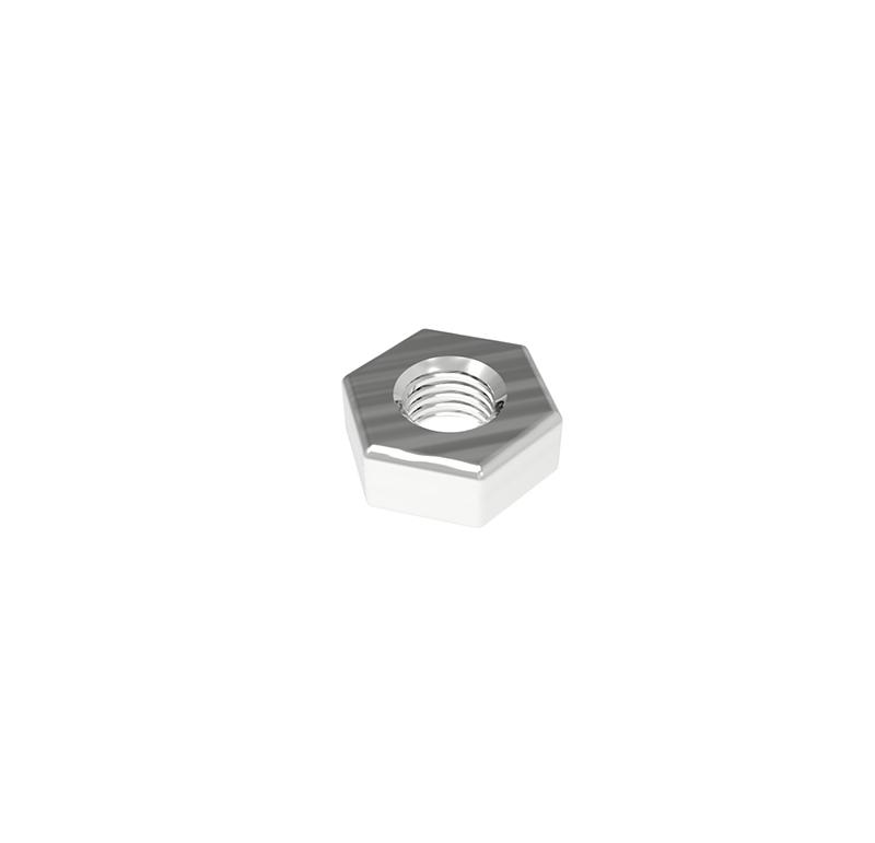 Tuerca Diámetro 3.00mm, Longitud 2.30mm, Tipo rosca métrica   Se venden en lotes indivisibles de 30 unidades