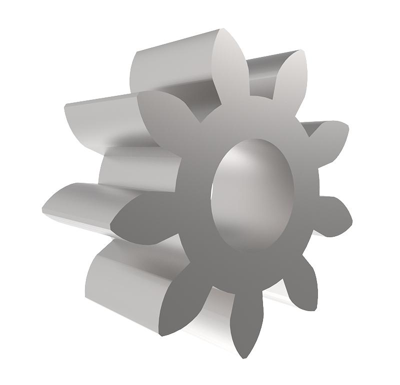 Piñón de metal Módulo 0.800, Dientes 9Z, Forma recto