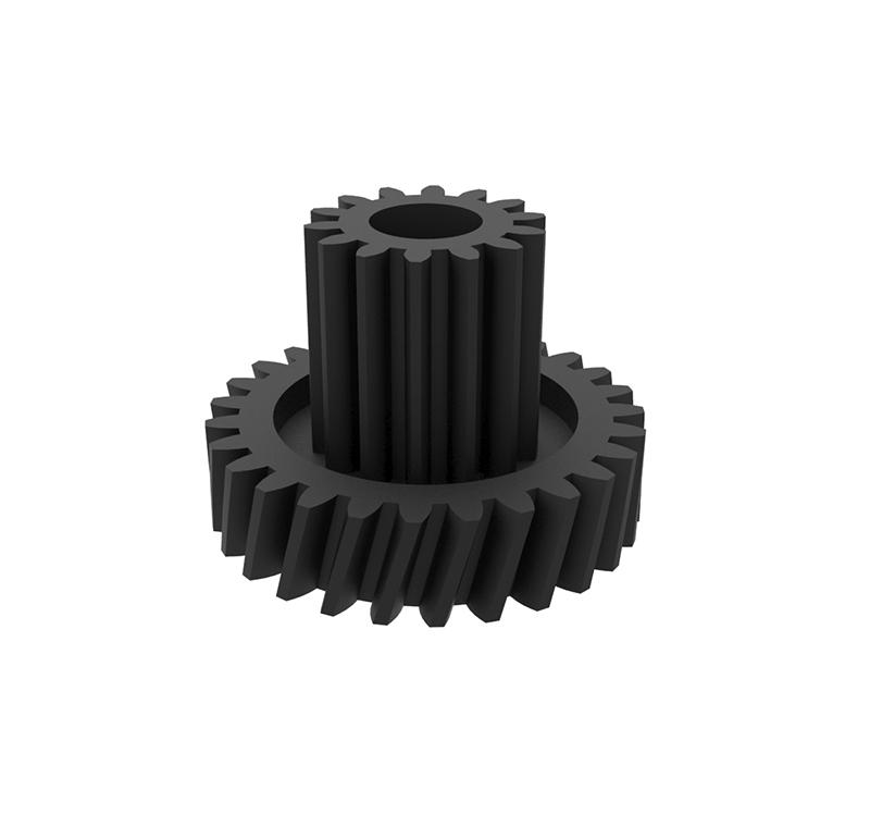Engranaje de plástico Módulo 0.400, Dientes 27Z, Forma con piñon