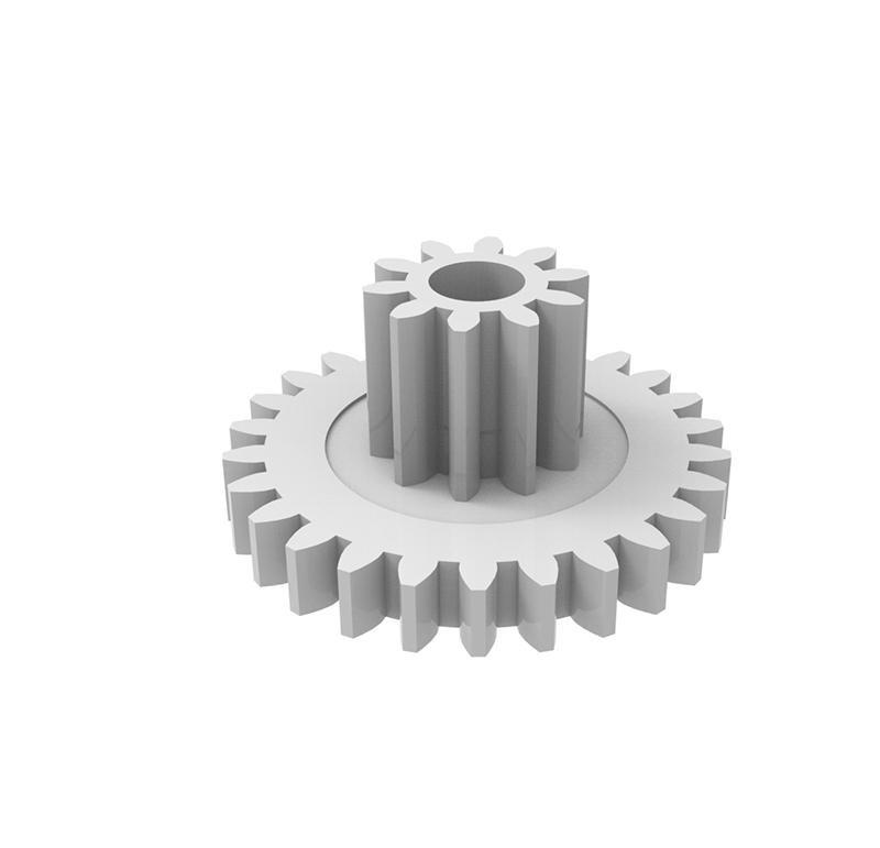 Engranaje de plástico Módulo 0.600, Dientes 26Z, Forma recto