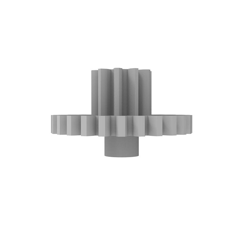 Engranaje de plástico Módulo 0.500, Dientes 26Z, Forma con piñon