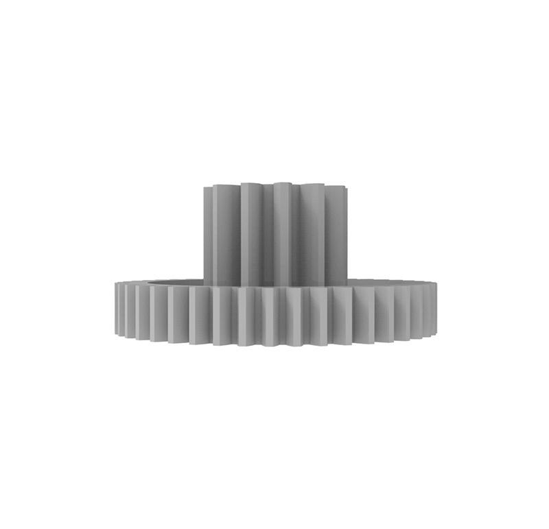 Engranaje de plástico Módulo 1.000, Dientes 44Z, Forma con piñon