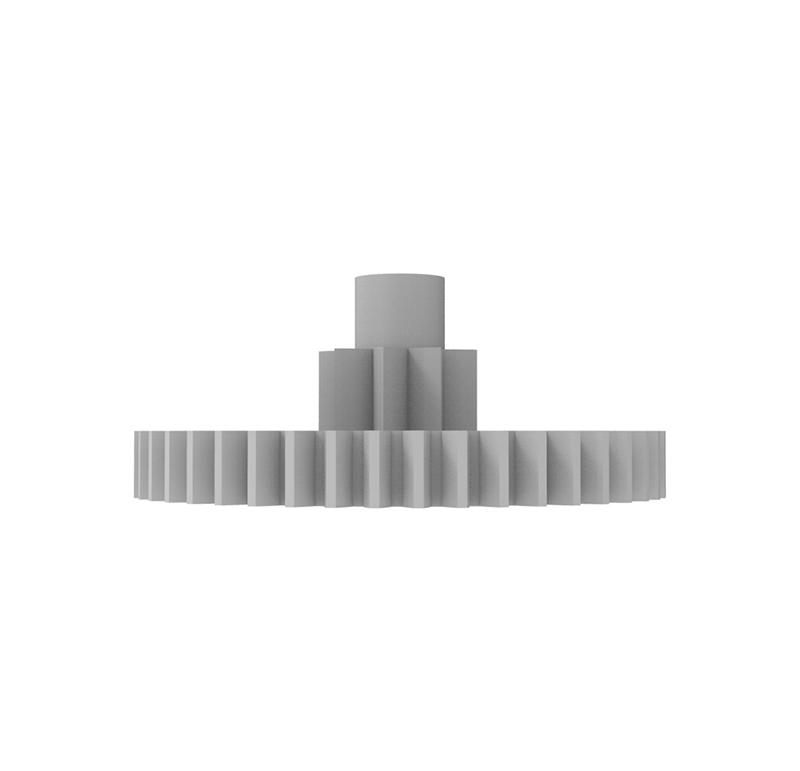 Engranaje de plástico Módulo 0.600, Dientes 45Z, Forma con piñon