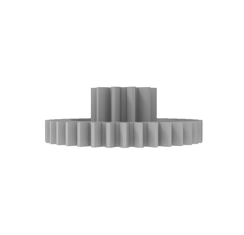 Engranaje de plástico Módulo 0.500, Dientes 36Z, Forma con piñon