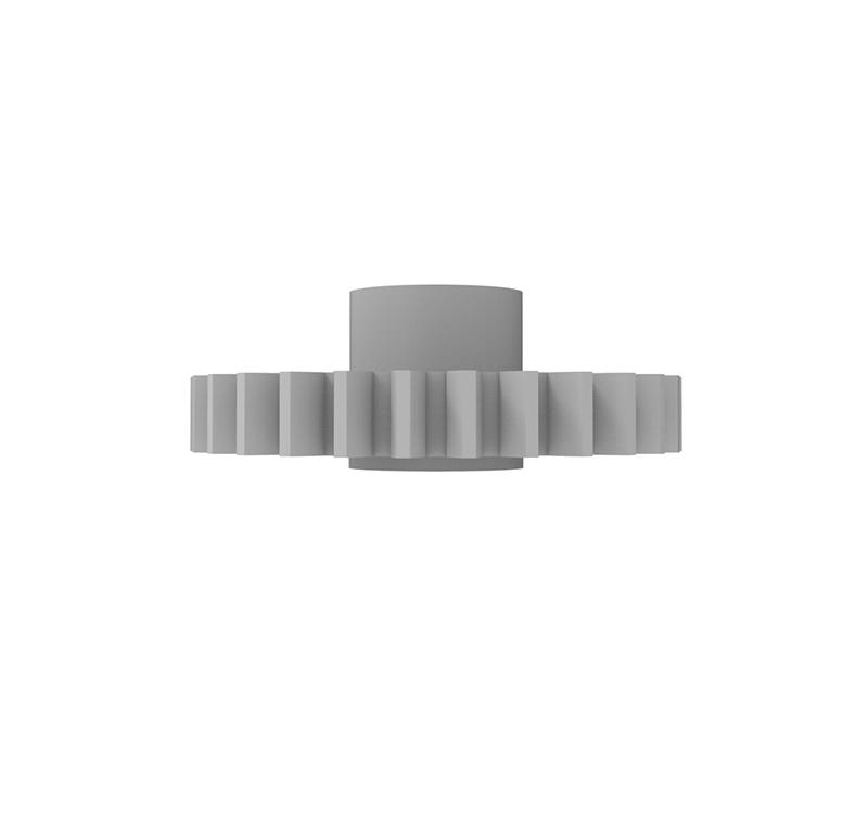 Engranaje de plástico Módulo 0.750, Dientes 28Z, Forma con bulon