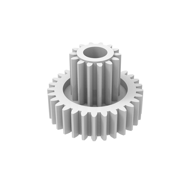 Engranaje de plástico Módulo 0.40, Dientes 29Z, Forma con piñon