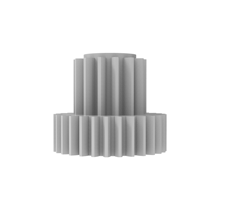 Engranaje de plástico Módulo 0.400, Dientes 29Z, Forma con piñon