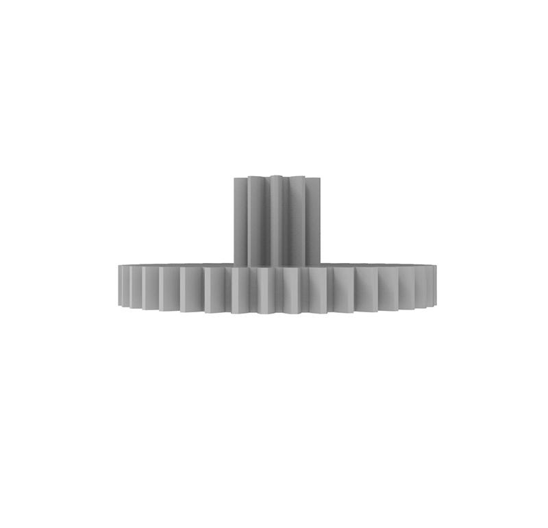 Engranaje de plástico Módulo 0.500, Dientes 40Z, Forma con piñon