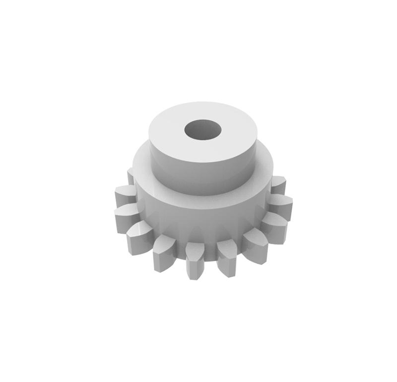 Engranaje de plástico Módulo 0.600, Dientes 16Z, Forma recto
