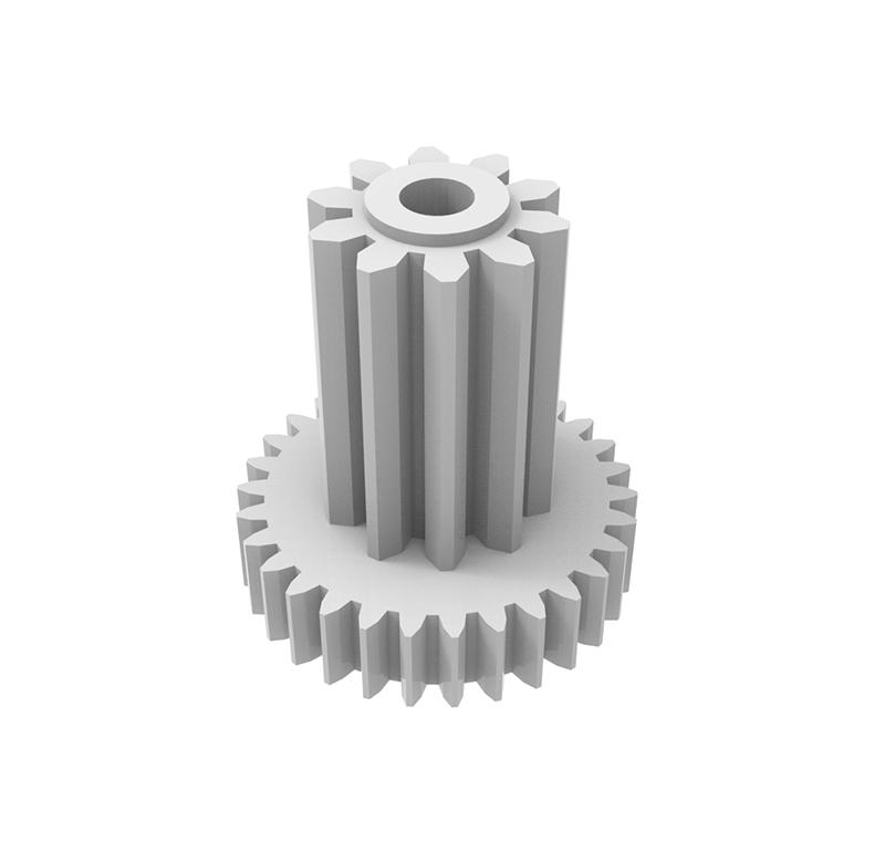 Engranaje de plástico Módulo 0.200, Dientes 30Z, Forma con piñon