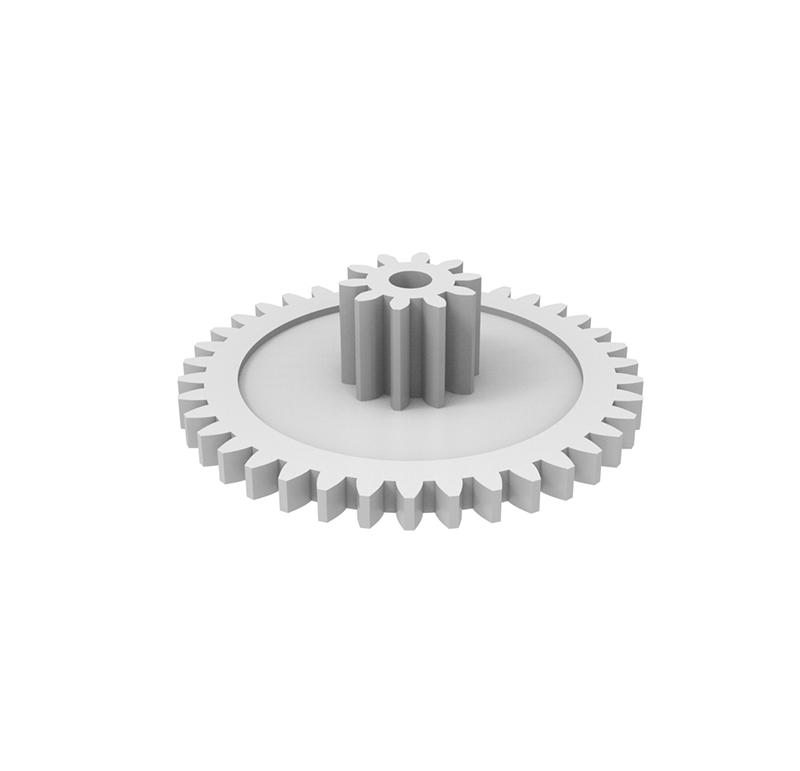 Engranaje de plástico Módulo 0.700, Dientes 38Z, Forma con piñon