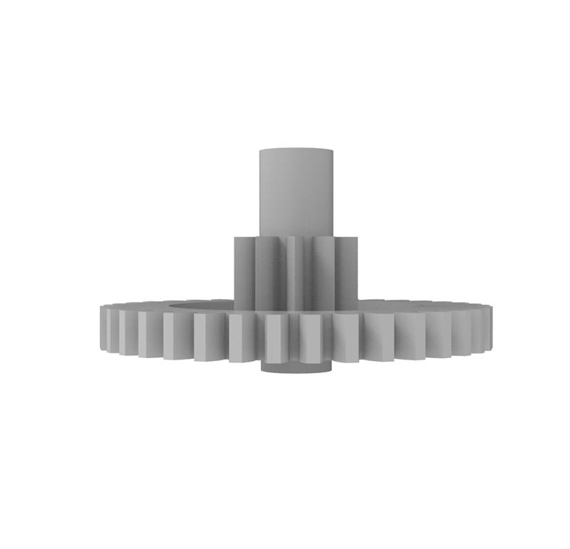 Engranaje de plástico Módulo 0.500, Dientes 37Z, Forma con piñon