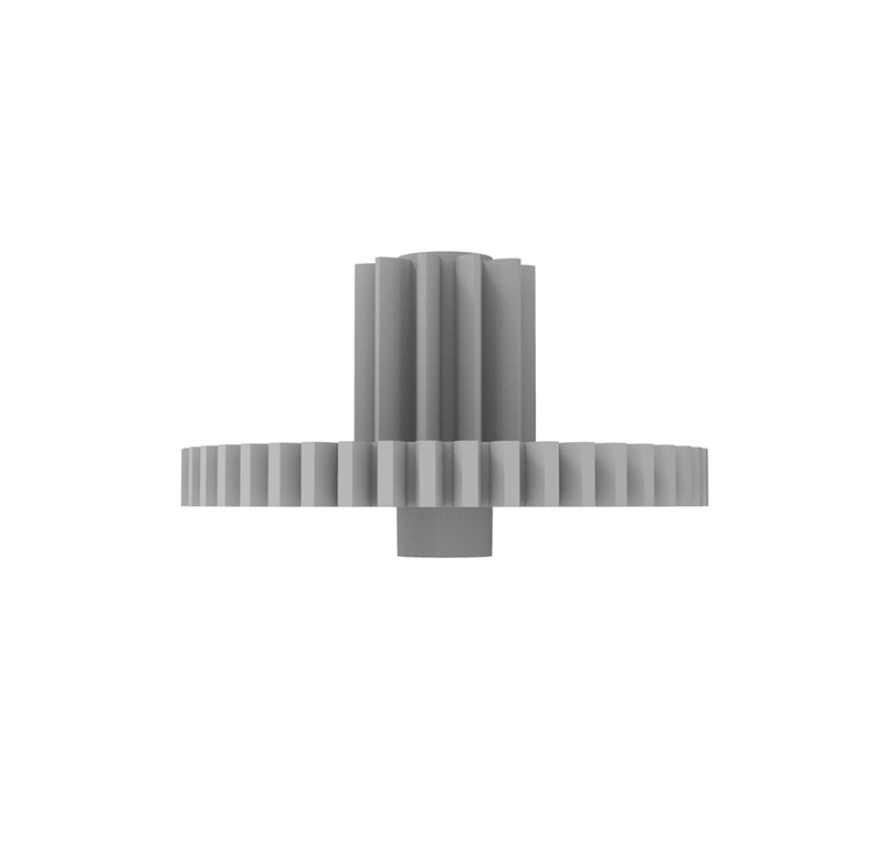 Engranaje de plástico Módulo 0.400, Dientes 46Z, Forma con piñon