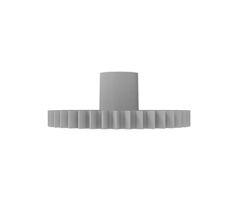 Engranaje de plástico Módulo 0.500, Dientes 40Z, Forma con bulon