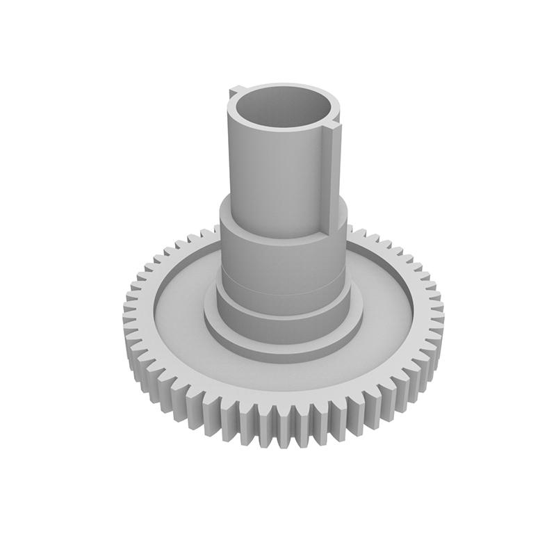 Engranaje de plástico Módulo 0.50, Dientes 57Z, Forma con bulón