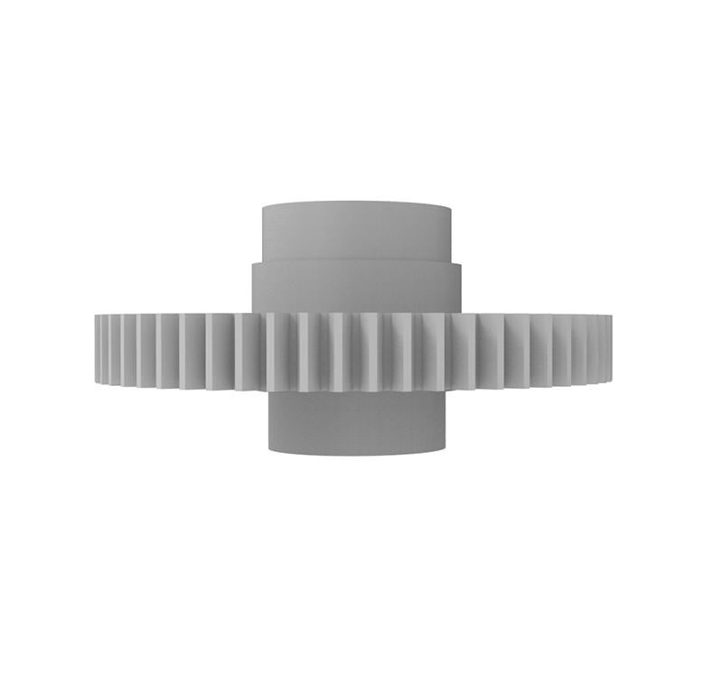 Engranaje de plástico Módulo 0.700, Dientes 57Z, Forma con bulon