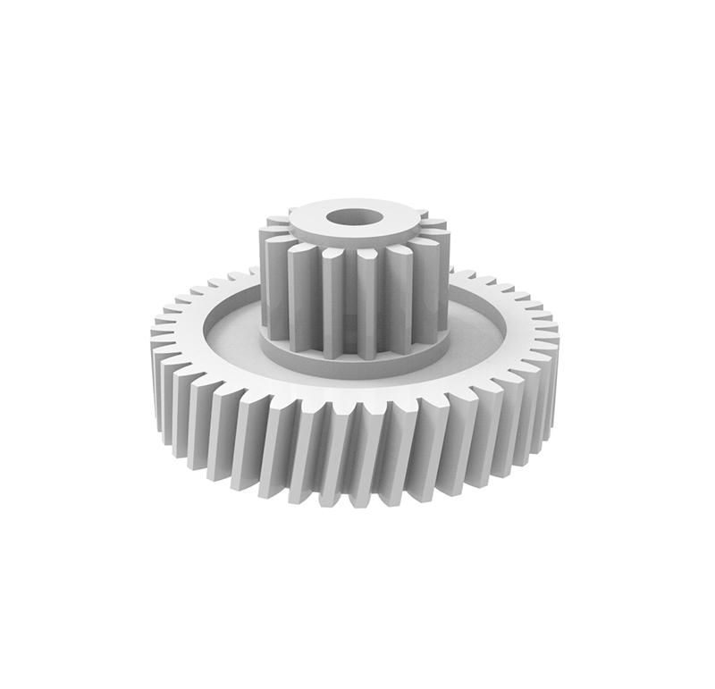 Engranaje de plástico Módulo 0.500, Dientes 43Z, Forma con piñon