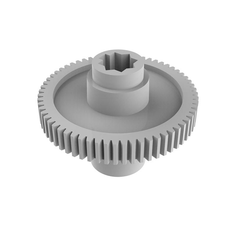Engranaje de plástico Módulo 0.600, Dientes 63Z, Forma con bulon