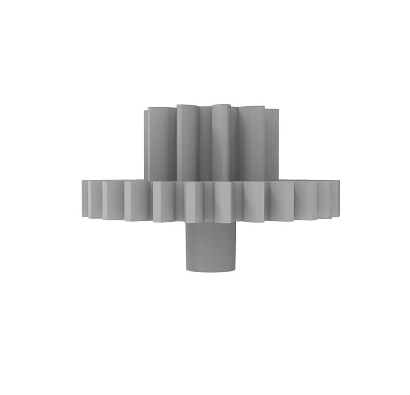 Engranaje de plástico Módulo 0.600, Dientes 27Z, Forma con piñon