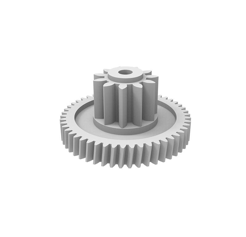 Engranaje de plástico Módulo 0.350, Dientes 50Z, Forma con piñon