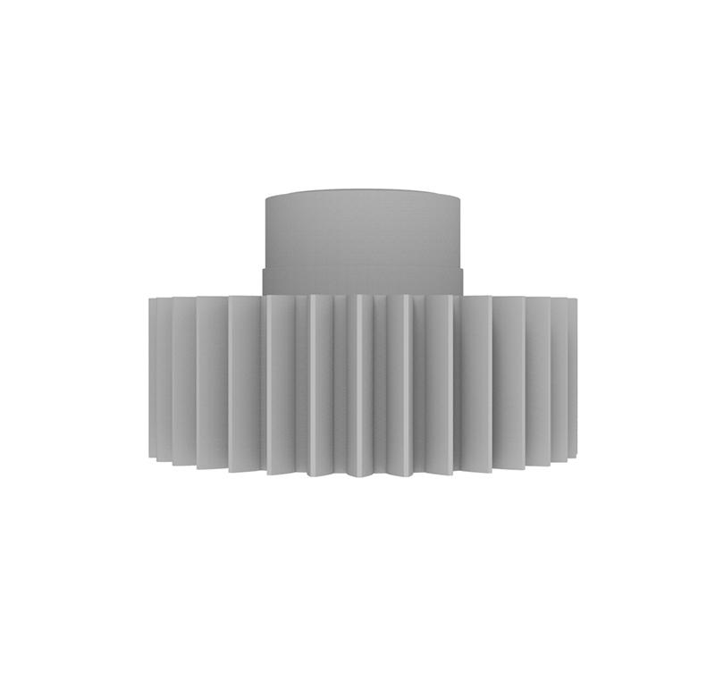 Engranaje de plástico Módulo 0.700, Dientes 34Z, Forma con bulon
