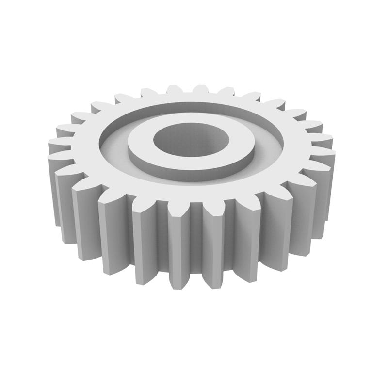 Engranaje de plástico Módulo 0.400, Dientes 26Z, Forma recto