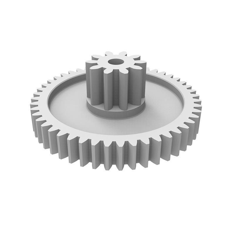 Engranaje de plástico Módulo 1.750, Dientes 48Z, Forma con piñon