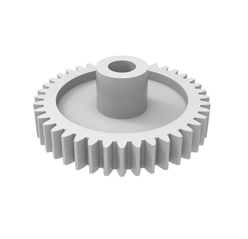 Engranaje de plástico Módulo 1.250, Dientes 40Z, Forma con bulon