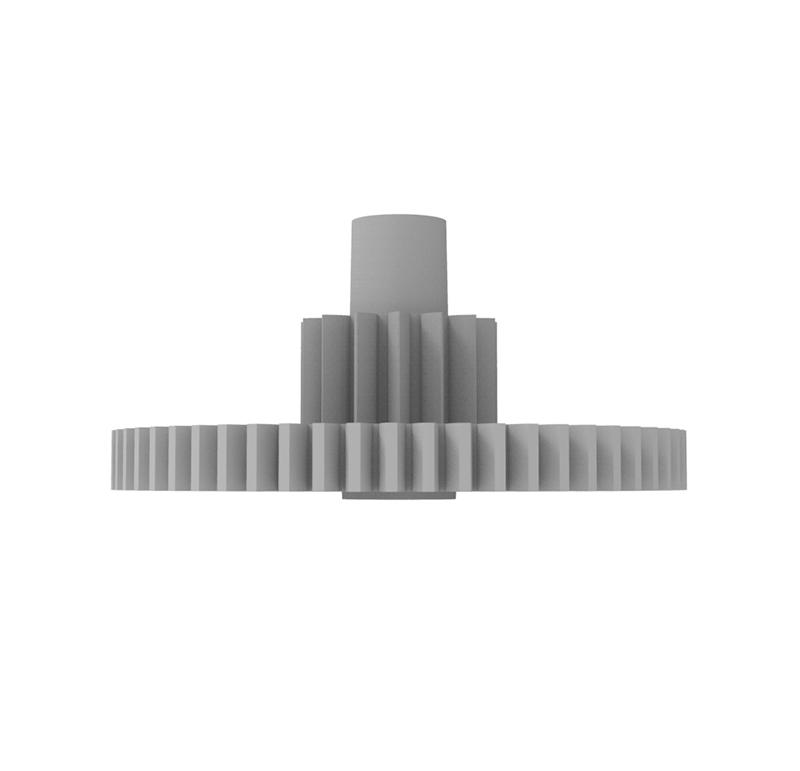 Engranaje de plástico Módulo 0.500, Dientes 58Z, Forma con piñon