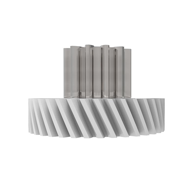 Engranaje de plástico Módulo 0.800, Dientes 38Z, Forma con piñon
