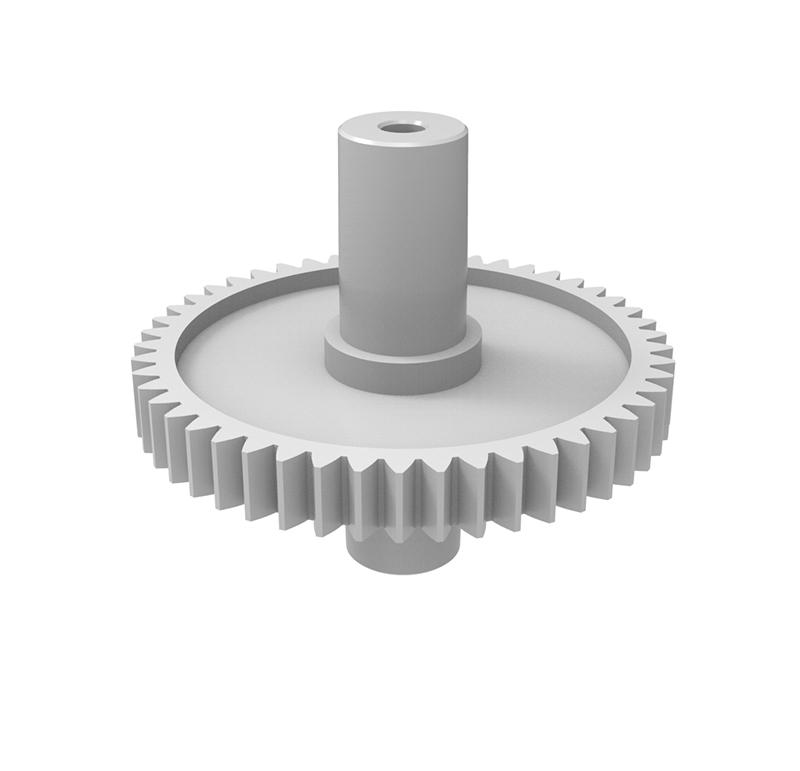 Engranaje de plástico Módulo 0.500, Dientes 49Z, Forma recto