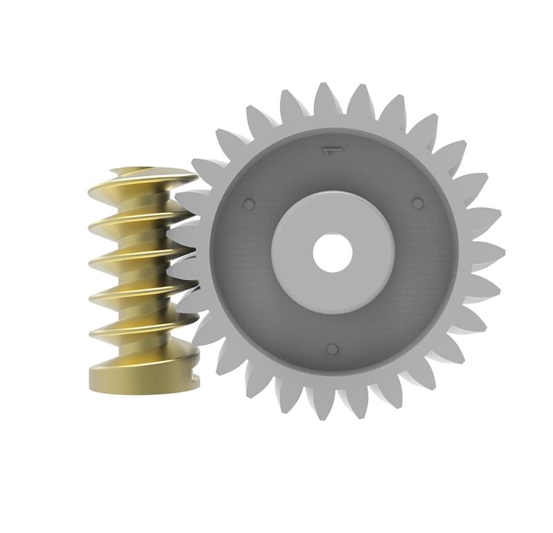 Conjunto Sinfín Corona Módulo 0.600, Numero entradas 1.00, Diametro exterior 5.96mm