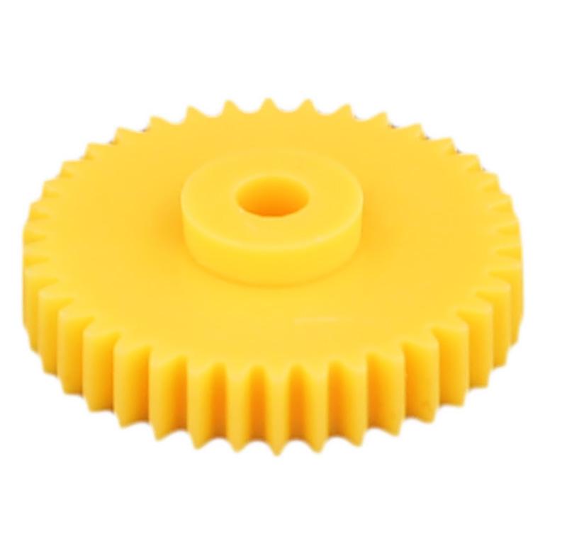 Engranaje de plástico Módulo 0.500, Dientes 38Z, Forma con bulon