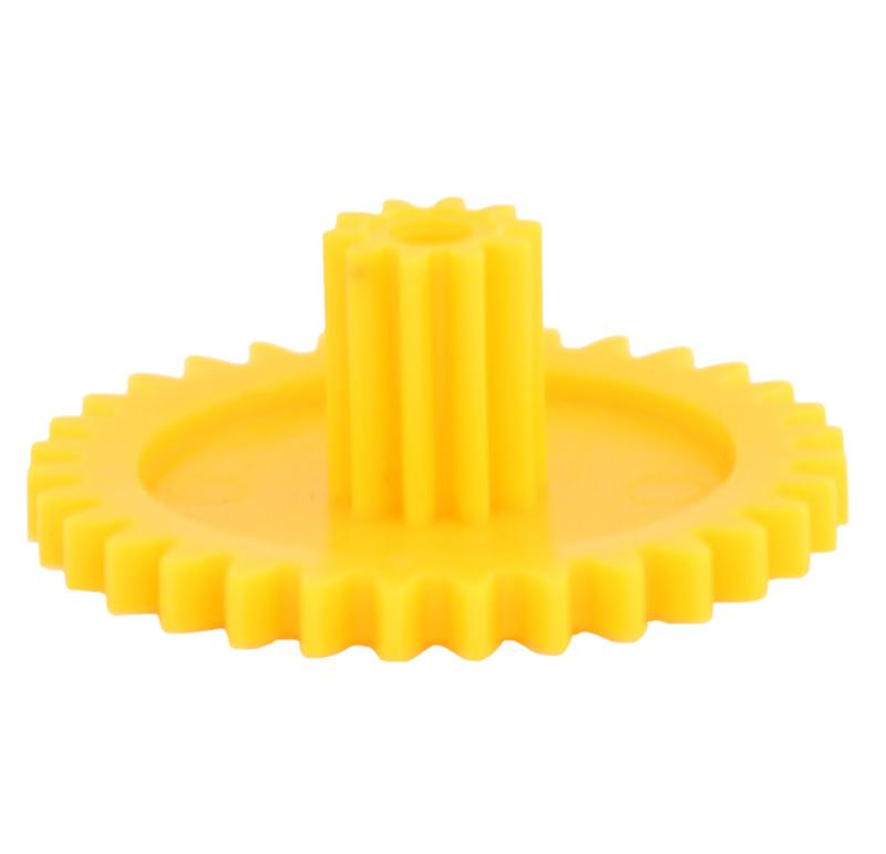 Engranaje de plástico Módulo 1.000, Dientes 32Z, Forma con piñon