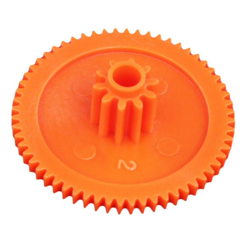 Engranaje de plástico Módulo 0.500, Dientes 60Z, Forma con piñon